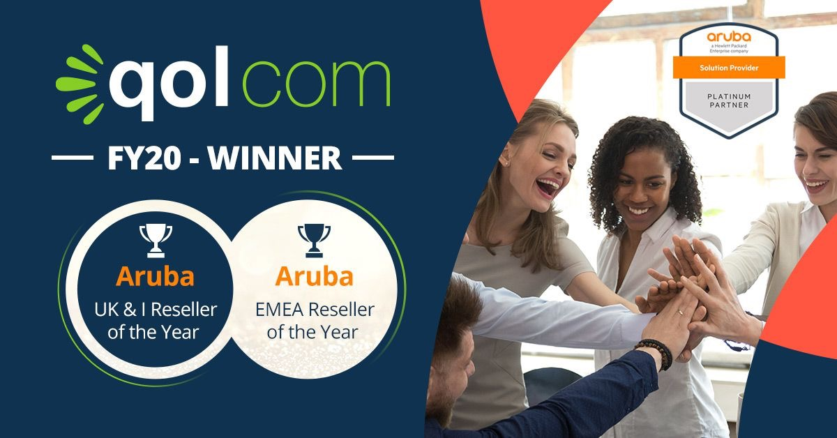 Qolcom is delighted to announce winning Aruba UK&I Reseller of the Year and to top that .. EMEA Reseller of the Year